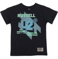 Russell Neon Iron Boys Tee - Grey