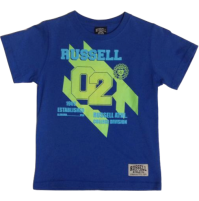 Russell Neon Iron Boys Tee - Blue