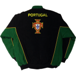Portugal National Soccer Jacket Black