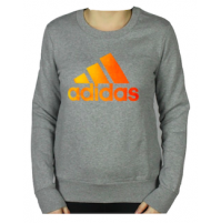 Adidas Performance Essential Crew - Grey/Ylw/Orange