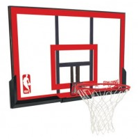 Spalding 48'' Polycarbonate Backboard & Ring Combo