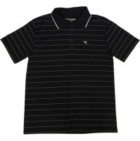 Diadora Jerry YD Stripe Polo - Black/White