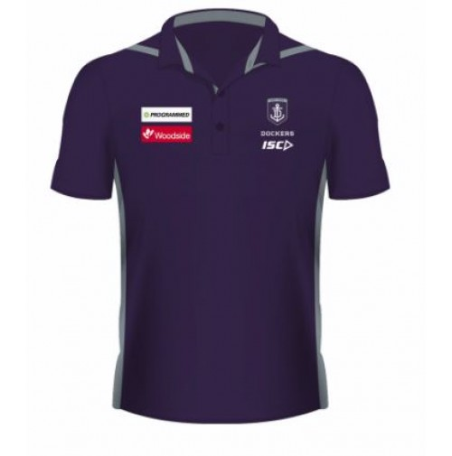 AFL Fremantle Dockers 2019 Mens Media Polo