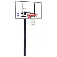 "Spalding 54"" Glass In-Ground System"