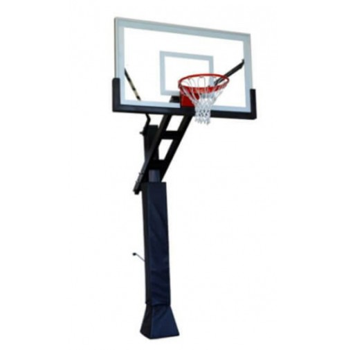 "Boomering 'The Boomer' 72"" Glass In Ground Basketball System"
