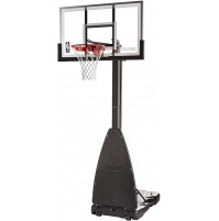 "Spalding 54"" Tempered Glass Basketball System"