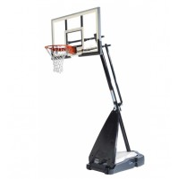 "Spalding 54"" Glass Hybrid Basketball System"