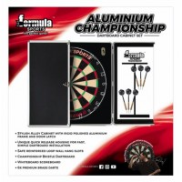 Formula Aluminium Dartboard and Cabinet Set