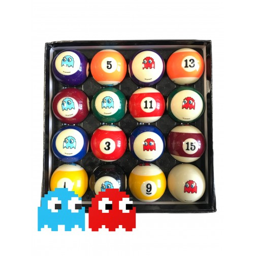 Pac-Man Pool Balls