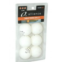 Alliance Table Tennis 3 Star Balls - 6 Pack