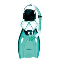Mirage Nomad Adult Silicone Mask, Snorkel and Fin Set
