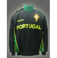 Portugal National Soccer Jacket Black Jnr.
