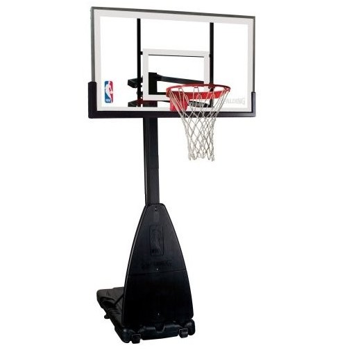 """Spalding 54"""" Tempered Glass Basketball System"""