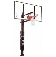 "Spalding 60"" Glass In Ground Basketball System"