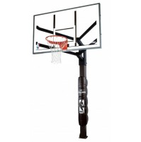 "Spalding 72"" Glass Arena View In Ground Basketball System"