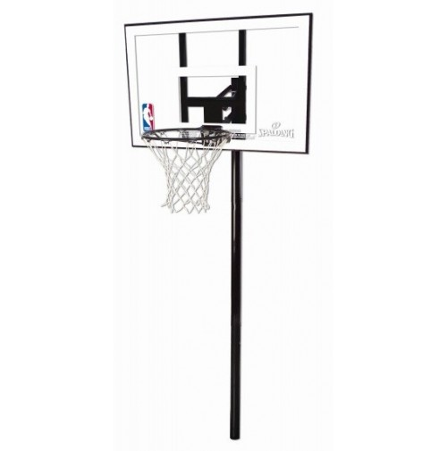 "Spalding 44"" Silver Series In Ground Basketball System"