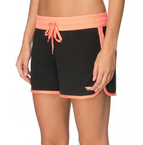 Running Bare Rock It Kick It Shorts - Black/Orange