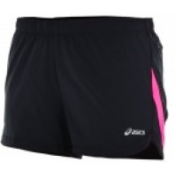 Asics Elite Run Short - Black/Pink