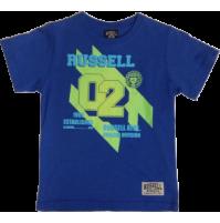 Russell Neon Iron Boys Tee - Blue