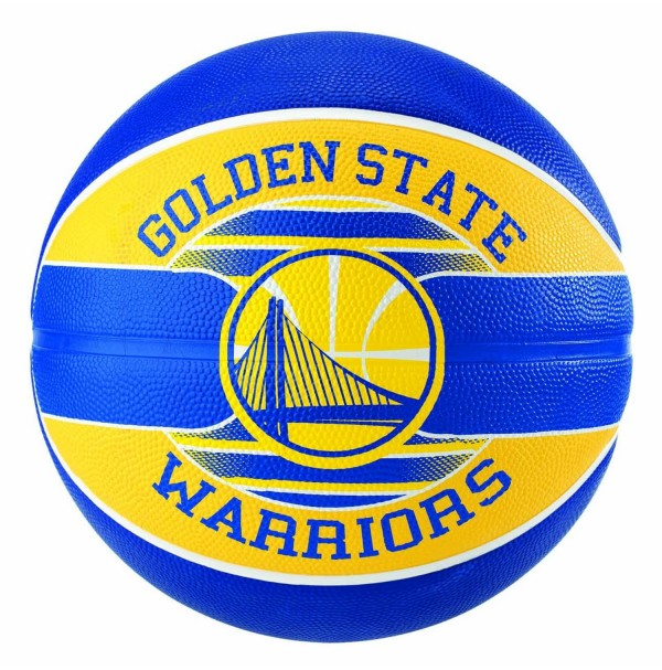 Spalding NBA Team Series Golden State Warriors Rubber Basketball