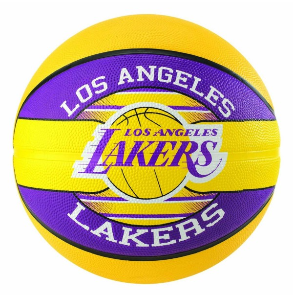 Spalding NBA Team Series Los Angeles Lakers Rubber Basketball