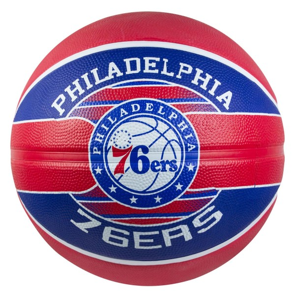 Spalding NBA Team Series Philadelphia 76ers Rubber Basketball