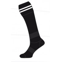 Sekem Football Socks - Black/White Stripe