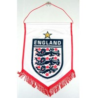 England Supporter Penant - White