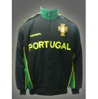 Portugal National Soccer Jacket Black Jnr.
