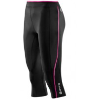 Skins A200 Women's 3/4 Tights - Black/Pink